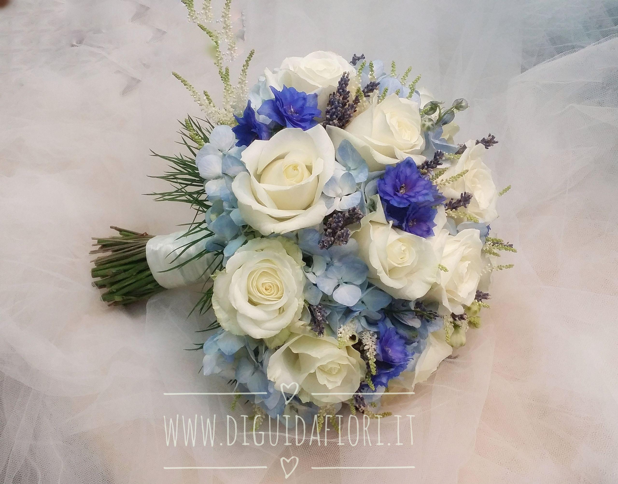 Bouquet da sposa azzurro e blu