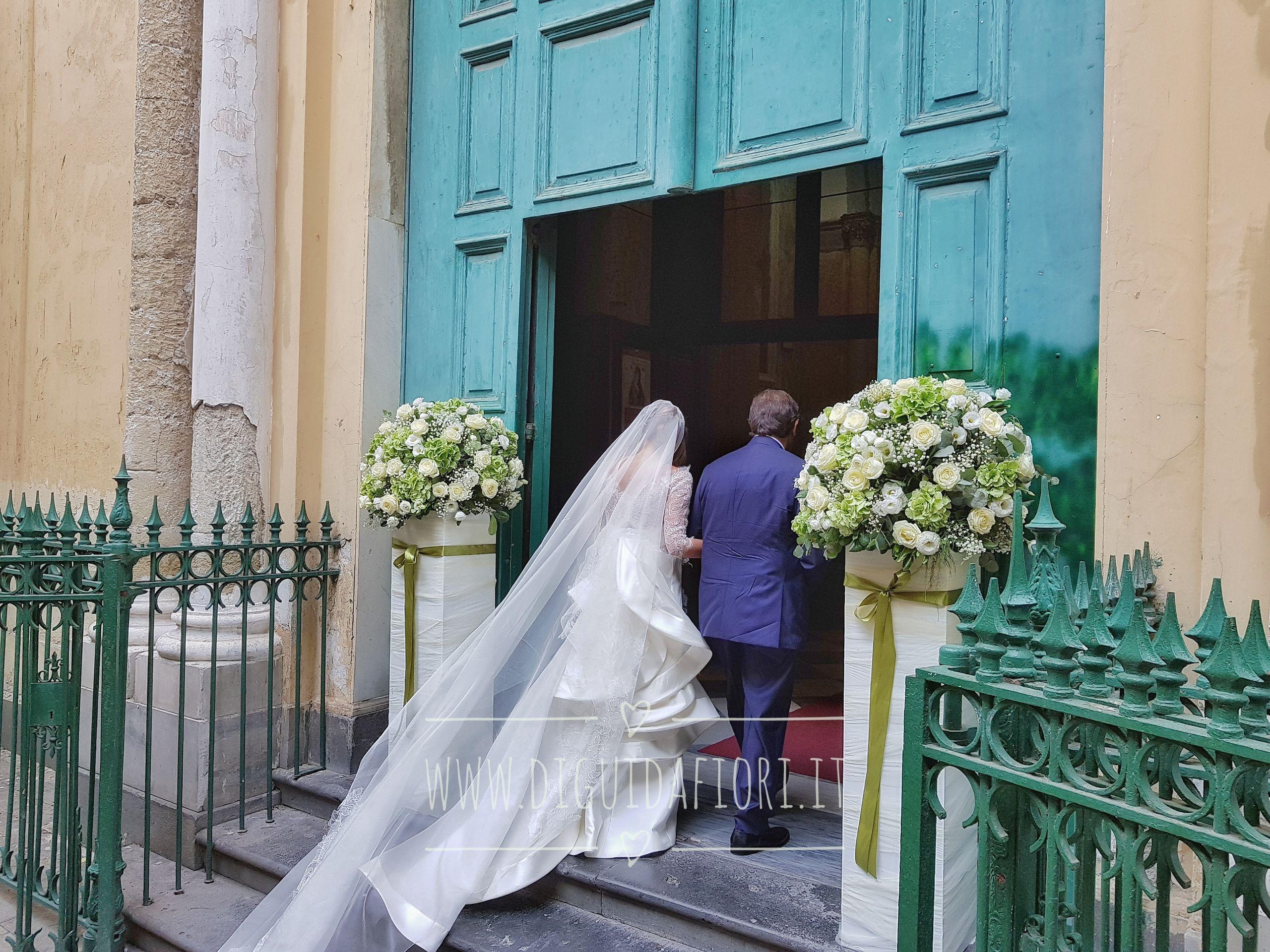 Addobbo floreale per matrimonio – Chiesa san Francesco d'Assisi Napoli