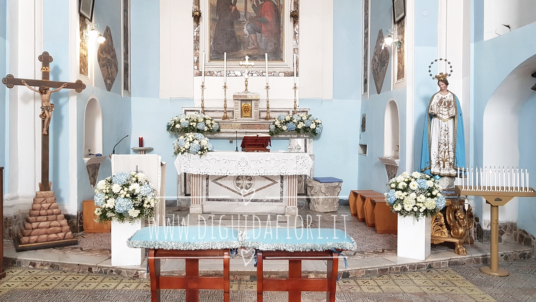 Addobbo floreale per matrimonio – Chiesa Santa Maria delle Grazie e San Sossio Martire