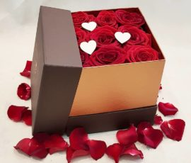 Rose rosse in scatola – flowers in a box