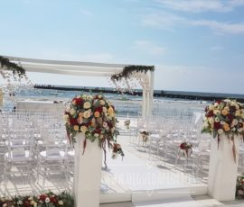 Matrimonio in riva al mare – rito civile a Villa Aragonese